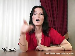 Sexy Milf Boss Makes You Stroke Your Weenie as She Watches