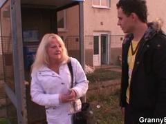 Horny granny pounded by juvenile guy