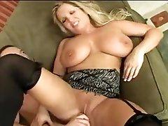 Massive tits curvy milf fucked on bed
