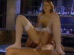 Pretty floozy Gilda Roberts having butt drilling sex in lab