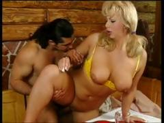 Sexy, breasty MILF, Christine, sucks and fucks cock for her porn audition.