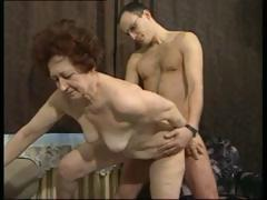 German girls jet-black hair granny receives a younger schlong to screw her rough fucking