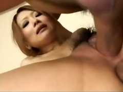 Japanese housewife receives fucked in will not hear of pantry