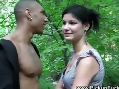 Unfocused fucked in a forest