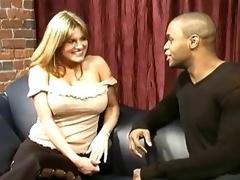 Big tits, big black cock, black condom
