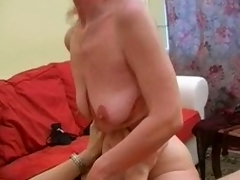Granny Inga with saggy tits gets fucked.