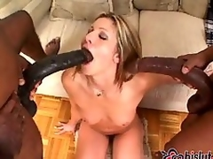 Lisa Marie drilled hard by two Negroid monster knobs