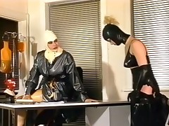 Wicked classic scene to two white horny ladies in latex