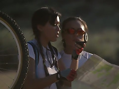 Careful bicycle parade ends acquire a win hard oral session for busty mom Venus and her wild buddy
