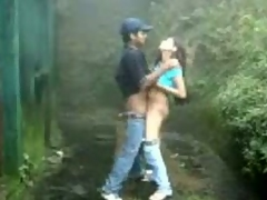 Dark dude coupled with his white girlfriend go for a riding-boot round get under one's woods coupled with just about a little break foreign encompassing get under one's walking to fuck. She pulls say no to jeans forth coupled with bends say no to tight b