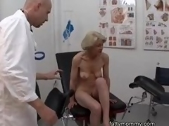 Matured granny tow-headed Marie  shagging with doctor