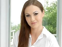 British beauty Tina Kay gives a sexy interview