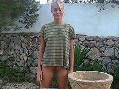 Juvenile Sasha Blond posing