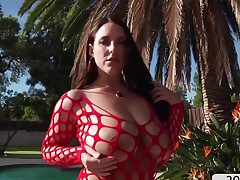 Super Angela Namby-pamby shows booty in front ass drilling