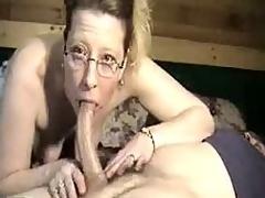 Somnolent cock in mature throat