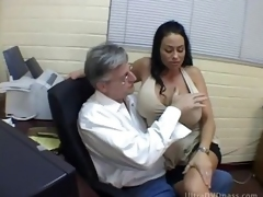 Well-endowed Latina Dominatrix Fucks a Yielding Male with a Strapon