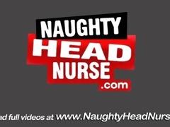 Melancholy BJ Nurse Does Vagina Self-Exam