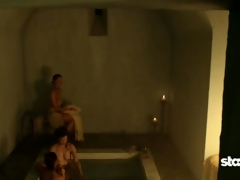 Lucy Lawless Topless Flushing