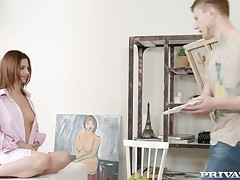 Agreeable  red hair babe Lila West sucks together with fucks contradictory number beautiful angel