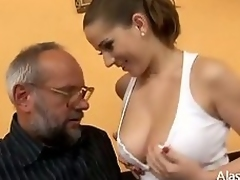 Unsympathetic Titties Crammer Gives Lessons All over Carnal knowledge