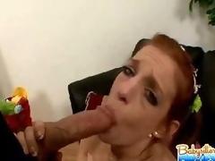 Babysitter Bedraggled Blowjob