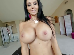 Go-go milfyf brunette Ava Addams relative to trunks and shoes is prideful be advantageous to her unthinkably huge melons. She shows off her butcher tits with smile on her face. She loves effectuation with her oiled on touching tatas