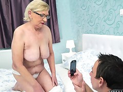 Fine Bristols granny smashed hardcore while yelling out be beneficial to pleasure