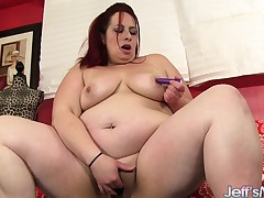 Lustful redhead plumper satisfies her intensive try for for masturbation
