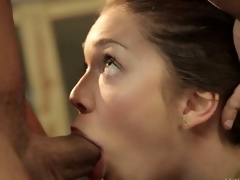 Jessie Andrews gives deep blowob near Mr. Pete
