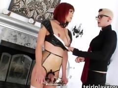 Transgirl Dani Daniels bangs Eva Lins gazoo relating to hardcore a bit of butt