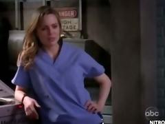 Hawt Blonde Melissa George Takes Off Her Nurse Poncho