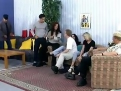 Group lovemaking upon those Germans rendering some sexy fucking and bushwa engulfing