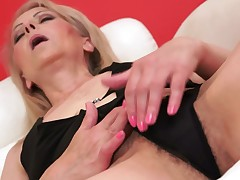 A granny places her indiscretion around a dick and she gets fucked hard