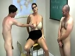 Twosome studs and fat hooters teacher step