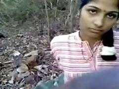 indian teenage playgirl romantic kissing not roundabout hardly with in forest