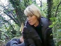 French granny bonking around the forest
