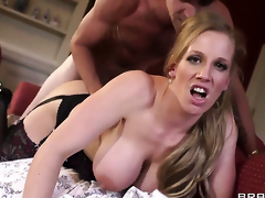 With large heart of hearts lets Danny D fuck her sweet mouth in advance of anal sex