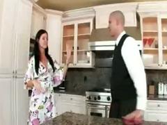 Deep bum sex in heels in the kitchenette