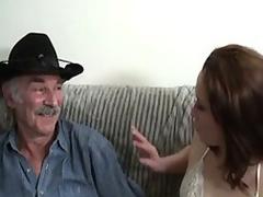 Amateur sex movie with a venerable baffle and a young slut.